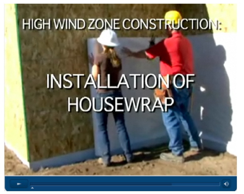 Air Barrier Association of America | Installation of Housewrap